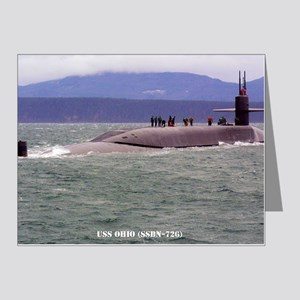 ohio ssbn large framed print Note Cards (Pk of 20)