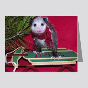 Possum on Christmas sled Note Cards (Pk of 20)