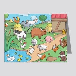Farm Animals Note Cards (Pk of 20)