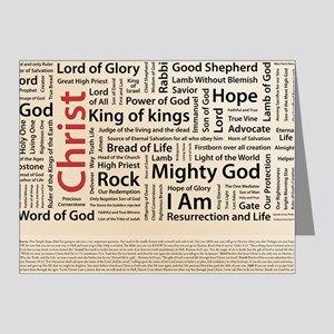 100 names of Jesus American  Note Cards (Pk of 20)