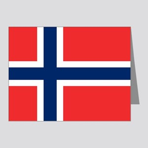 Flag of Norway Note Cards