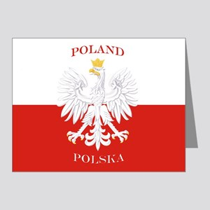 Poland Polska White Eagle Flag Note Cards
