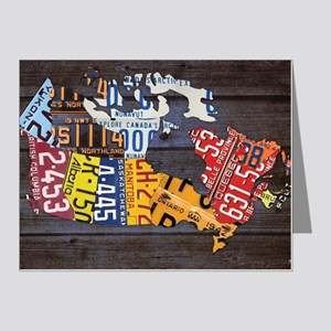License Plate Map of Canada  Note Cards (Pk of 20)