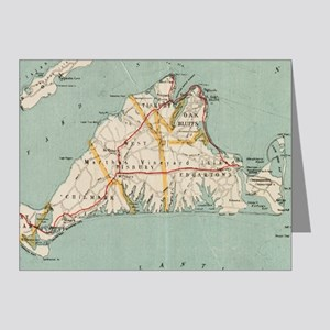 Vintage Map of Martha's Vineyard (1917) Note Cards