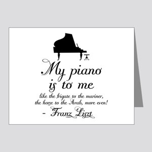 Franz Liszt Piano Quote Note Cards (Pk of 20)