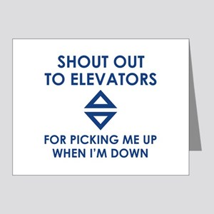 Shout Out To Elevators Note Cards (Pk of 20)