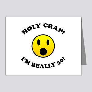 Greeting Cards Holy Crap Im 50 Note Pk Of 20