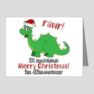 Christmas Dinosaur.Dinosaur Christmas Greeting Cards Cafepress