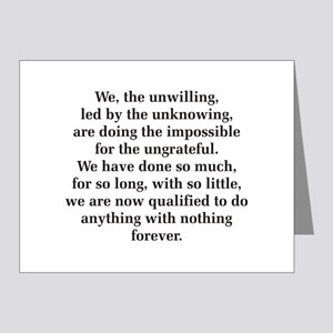 We The Unwilling Note Cards (Pk of 20)