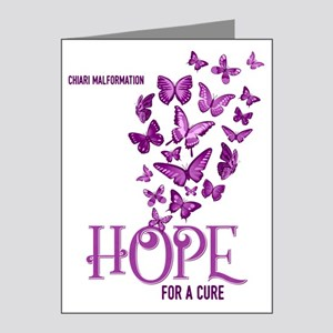 Chiari Hope For A Cure Butterflies Note Cards