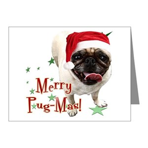 Pug Christmas Cards.Pug Note Cards Pk Of 20
