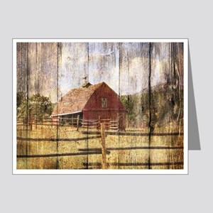 farm red bar Note Cards