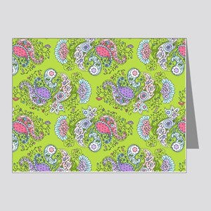 Paisley Doodles Lime Note Cards (Pk of 20)