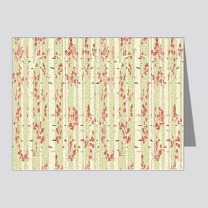 birch trees curtain Note Cards (Pk of 20)