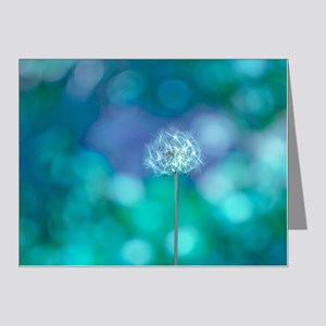 a80757b2f69 Dandelion with blue and gree Note Cards (Pk of 20)