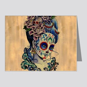 Marie Muertos Cushion cover Note Cards (Pk of 20)