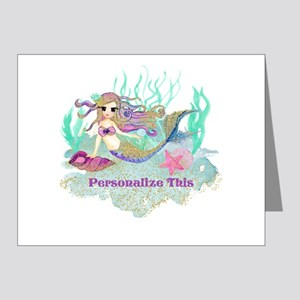 Cute Personalized Mermaid Note Cards