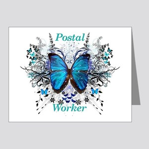 Postal Worker Butterfly Note Cards