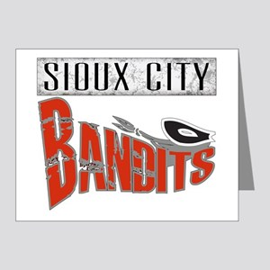 Sioux City Bandits Grunge Note Cards (Pk of 20)