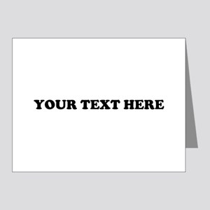 Custom Text Note Cards (Pk of 20)