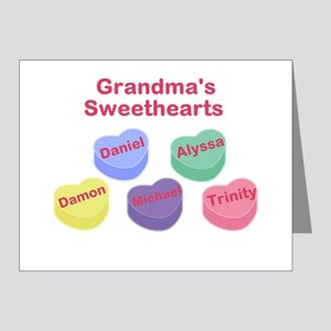 Custom Grand kids sweethearts Note Cards (Pk of 20