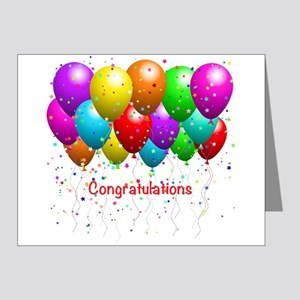 Congratulations Balloons Note Cards (Pk of 20)