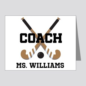 Personalized Field Hockey Coach Note Cards