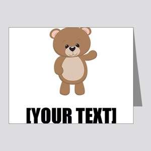 Teddy Bear Waving Personalize It! Note Cards