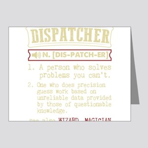 Dispatcher Funny Dictionary Term Note Cards