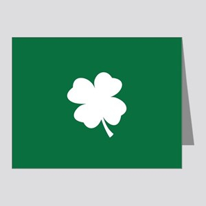 St Patricks Day Shamrock Note Cards