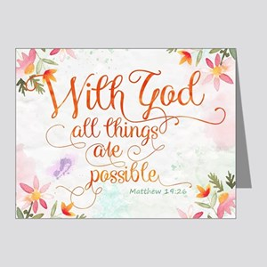 With God Note Cards