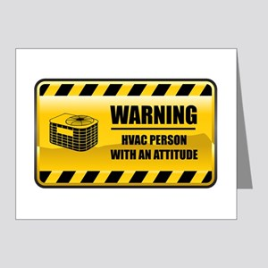 Warning HVAC Person Note Cards (Pk of 20)