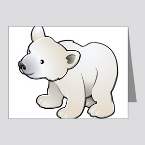 Gray Baby Polar Bear Note Cards (Pk of 20)