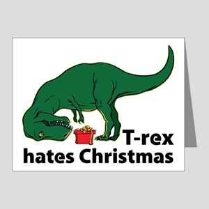 T-rex hates Christmas Note Cards (Pk of 20)