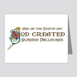 God Created Vallhunds Note Cards (Pk of 20)