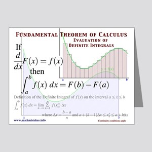 Funny Fundamental Theorem Of Calculus Greeting Cards - CafePress