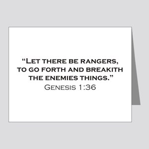Ranger / Genesis Note Cards (Pk of 20)