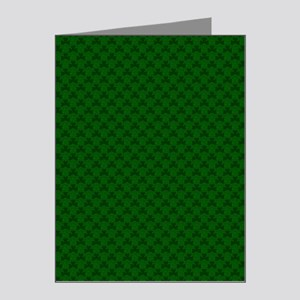 Shamrocks Shower Curtain - L Note Cards (Pk of 20)