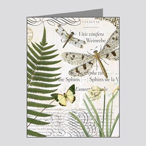 Vintage French dragonflies Note Cards (Pk of 20)