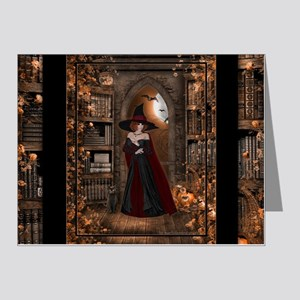Witch in Library Note Cards (Pk of 20)