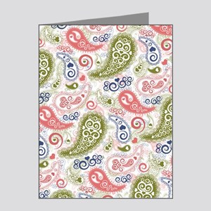 Sweet Caroline Heart Paisley Note Cards (Pk of 20)