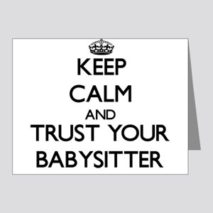 Keep Calm and Trust Your Babysitter Note Cards