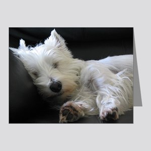 Sleeping Westie Note Cards (Pk of 20)