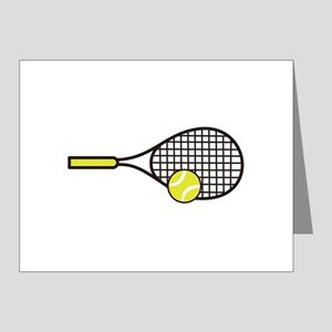 TENNIS RACQUET & BALL Note Cards