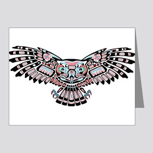 Mystic Owl in Native American Style Note Cards