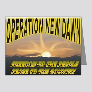 Operation New Dawn Note Cards (Pk of 20)