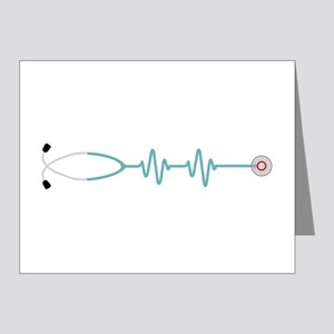 Stethescope Heart Rate Monitor Note Cards