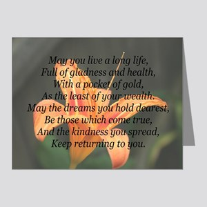 True Wealth Irish Blessing Note Cards (Pk of 20)