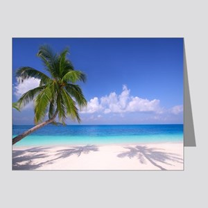 Tropical Beach Note Cards