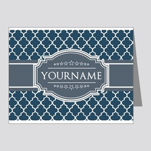 Moroccan Lattice Navy Blue G Note Cards (Pk of 20)